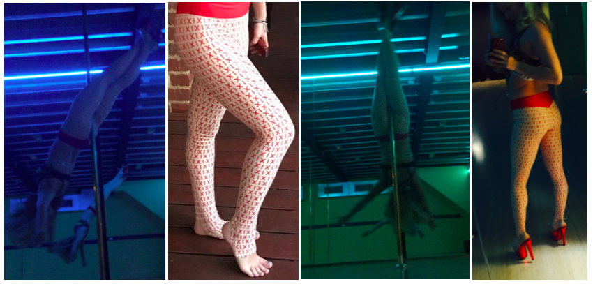 gecko grip leggings pole dance yoga xix