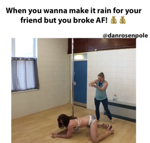 pole dance meme