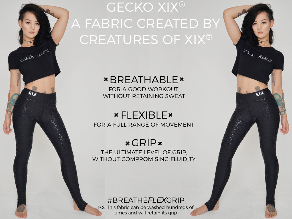 gecko grip breatheflexgrip leggings creatures of xix sportswear pole dance