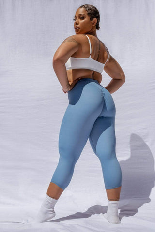 Capri Leggings: Blue Steel leggings
