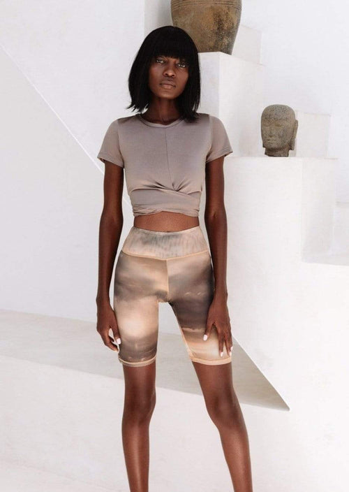 Heavenly Mesh Biker Short - Desert Skies Shorts