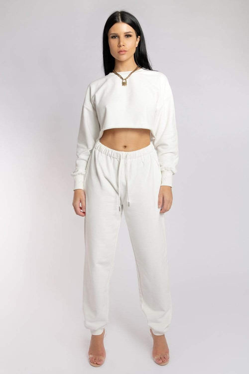 Oversized Jogger Bottoms - Ecru Jogger bottoms