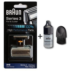 BRAUN Series Replacement Pack Foil & Cutter With Braun Appliance Oil and Braun Cleaning Brush
