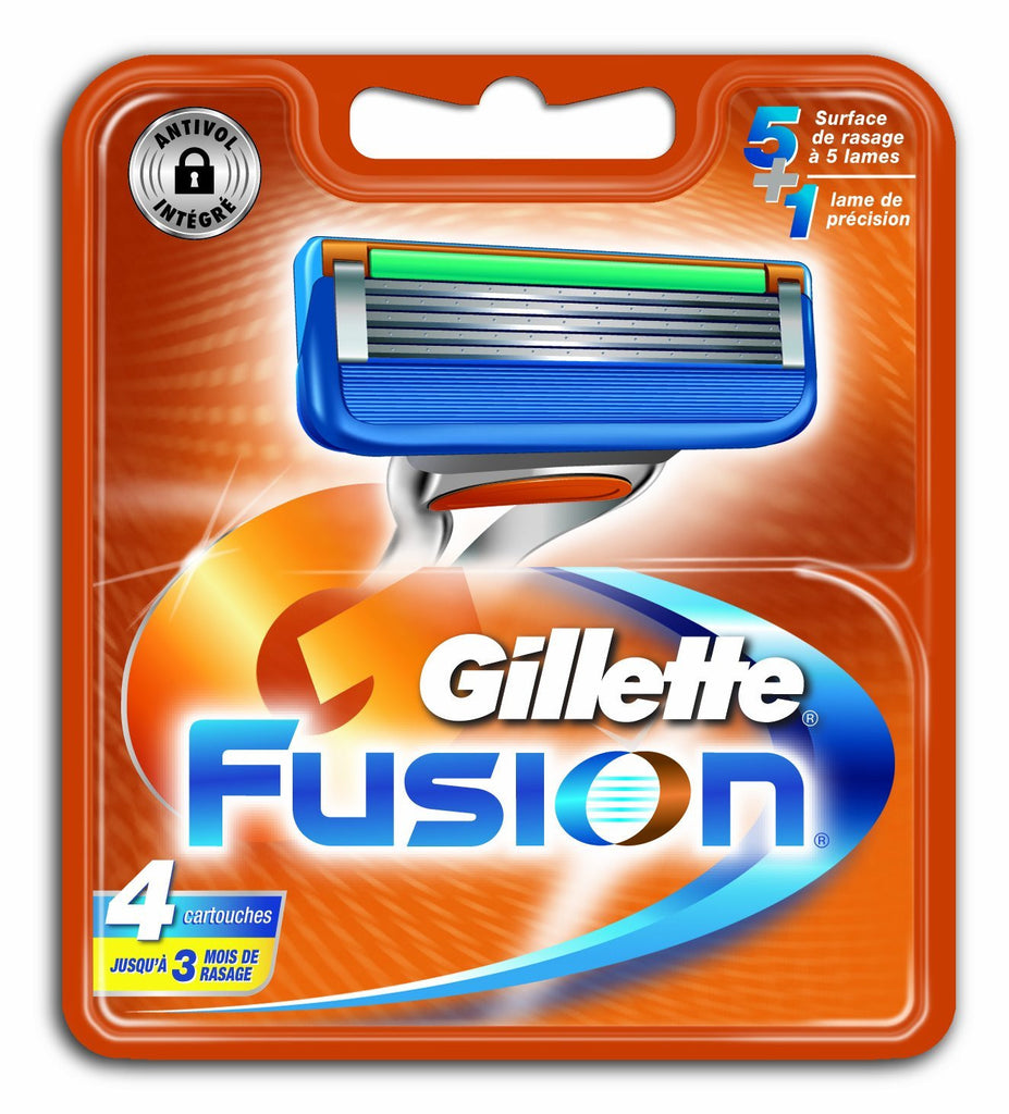 GILLETTE FUSION 4 PACK BLADES
