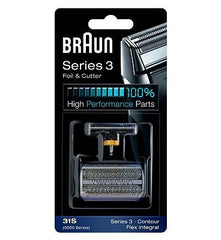 Braun 31S (5000 series) Foil & Cutter Replacement Silver Color Contour Flex XP Integral Shaver( 5775 5875 5877 5895 6520 5000 )