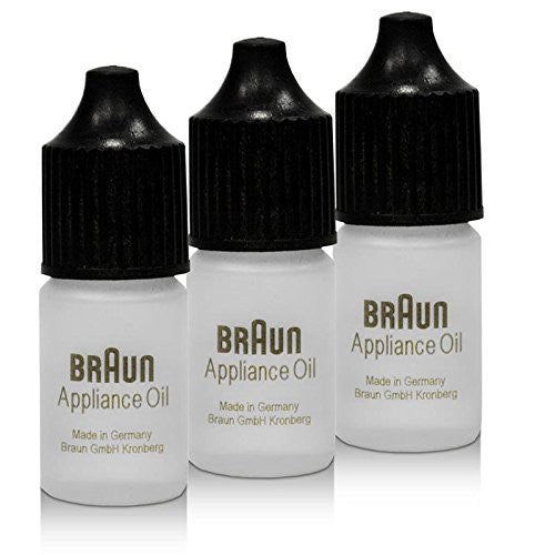 Braun SYNCRO Shaver Lubricating  Appliance Oil 7002000 / 81611628 Set of 3