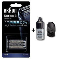 Braun 32B Replacement Head Electric Shaver Replacement Foil Cartridge with Brush and Oil,