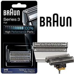 Braun 31S (5000 series) Foil & Cutter Replacement Silver Color Contour with Braun  Appliance oil and Braun Cleaning Brush