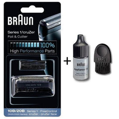 Braun Kombipack Series 1 10B 1000/2000FC 5729761, 5729769 1000 series Shaver Replacement Foil and Cutter Cassette Cartridge with  Cleaning Brush and Appliance Oil