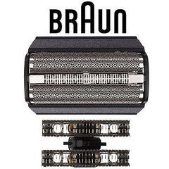 Braun 31 B Series 3 Electric Shaver Replacement Foil Cartridge with Braun Appliance Oil and Braun Cleaning Brush