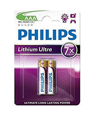 Philips FR03LB2A Ultra AAA Lithium Battery 2 Pack 8712581359461