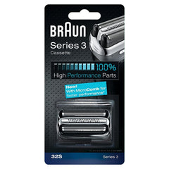 Braun 32S Series 3 Replacement Shaver Foil and Cutter Head Cassette