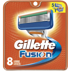 Gillette Fusion Razor Cartridges Manual Blades - 8 Refills