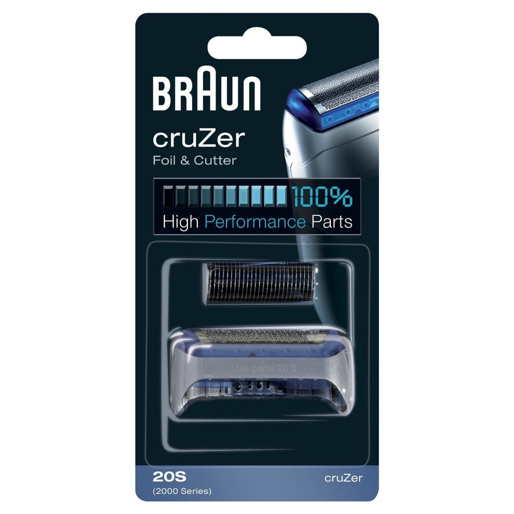 Braun 20S Series 1 Cruzer Electric Shaver Replacement Foil & Cutter -1, 2, 3, 4 - 2000 Series