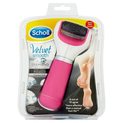 Scholl Velvet Smooth Pedi Express Electronic Foot File Diamond Extra Coarse (Pink)