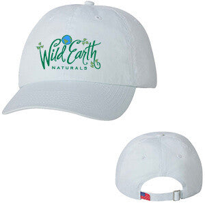 Hat Embroidered with Wild Earth Naturals Logo