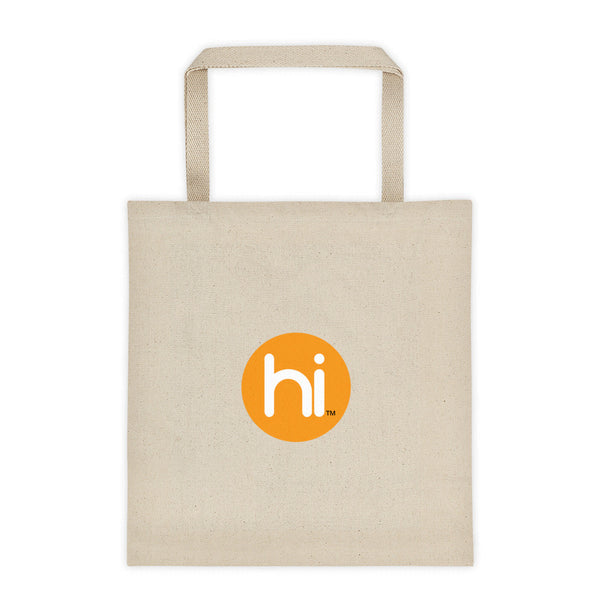 Cotton Canvas Tote Bag with hi Logo