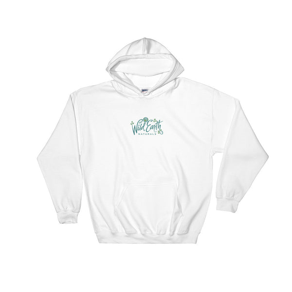 Heavy Hoodie Sweatshirt with Wild Earth Naturals Logo in Sizes S, M, L