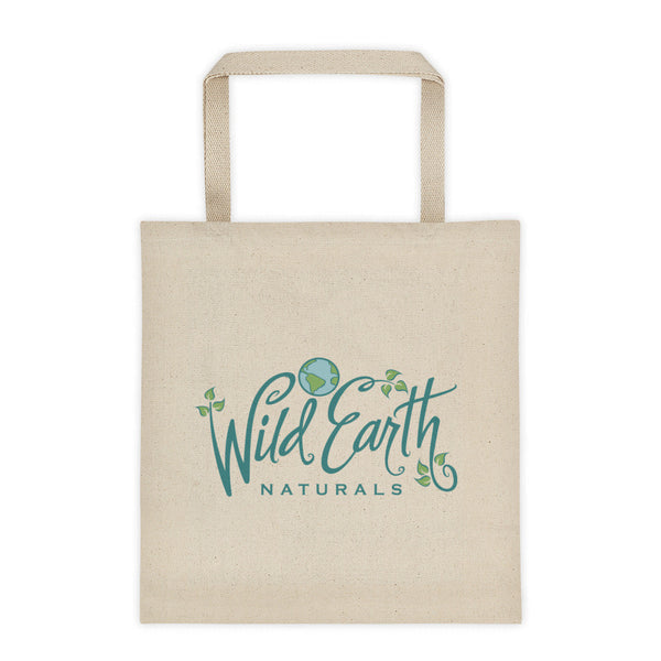 Cotton Canvas Tote Bag with Wild Earth Naturals Logo