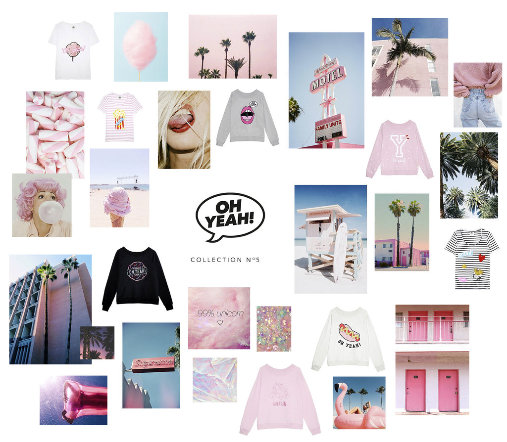 Oh Yeah! Collection No5 Miami pink soft unicorn cotton candy beach palms