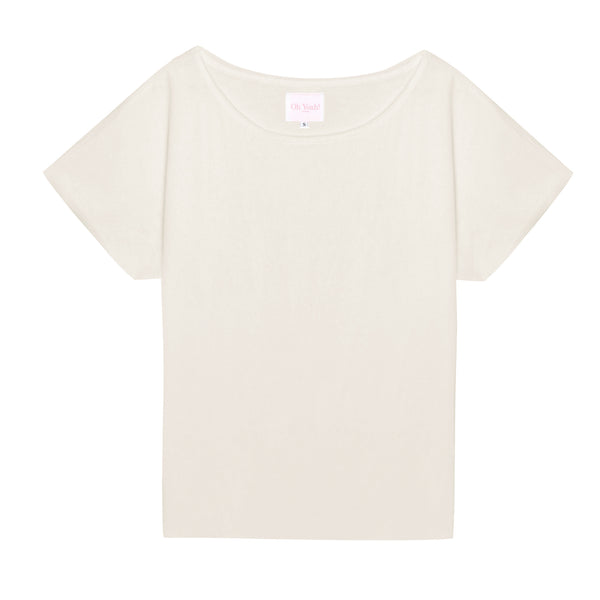 off-white eggshell basic shirt damen T-shirt superweich baumwolle