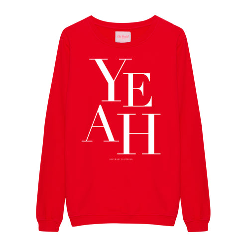Big Yeah Sweater Red - Oh Yeah! GmbH