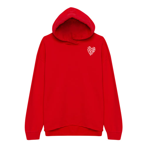 Leo Heart Sweater Red - Oh Yeah! GmbH