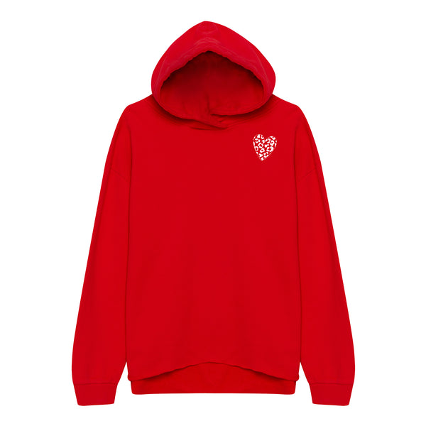Leo Heart Sweater Red - Oh Yeah! Clothing
