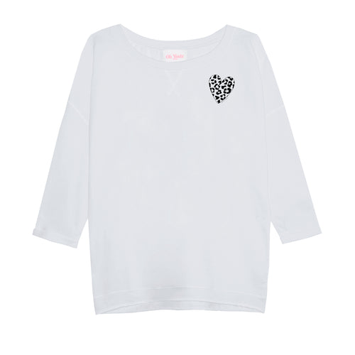 Leo Heart Sweater Blue - Oh Yeah! GmbH