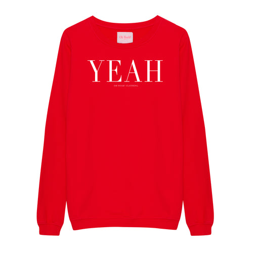 Classic Yeah Sweater Red - Oh Yeah! GmbH