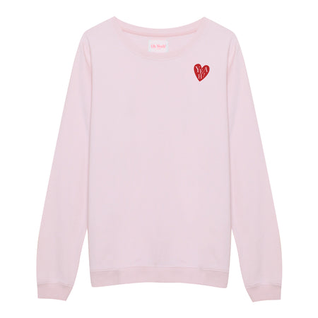 Heart 21 Sweater Pink