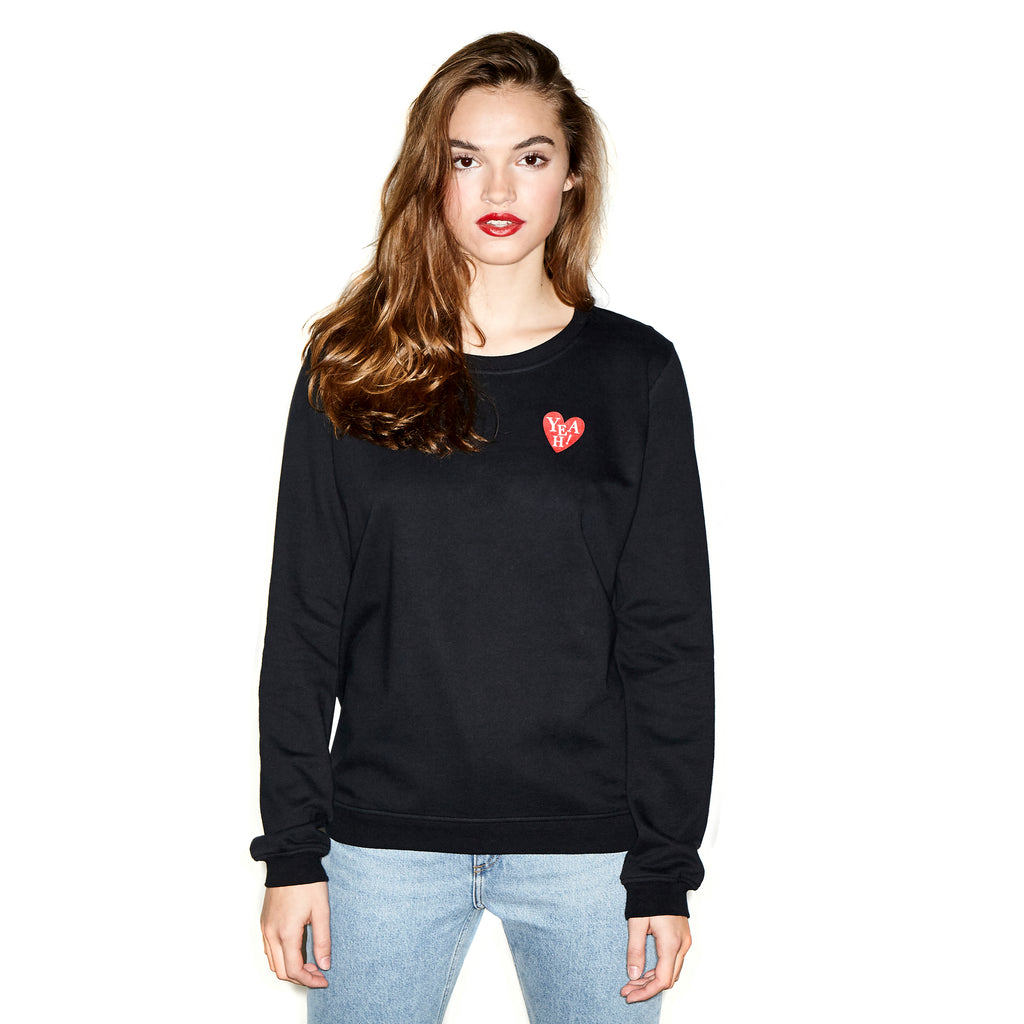 Heart 30 Sweater Black - Oh Yeah! Clothing