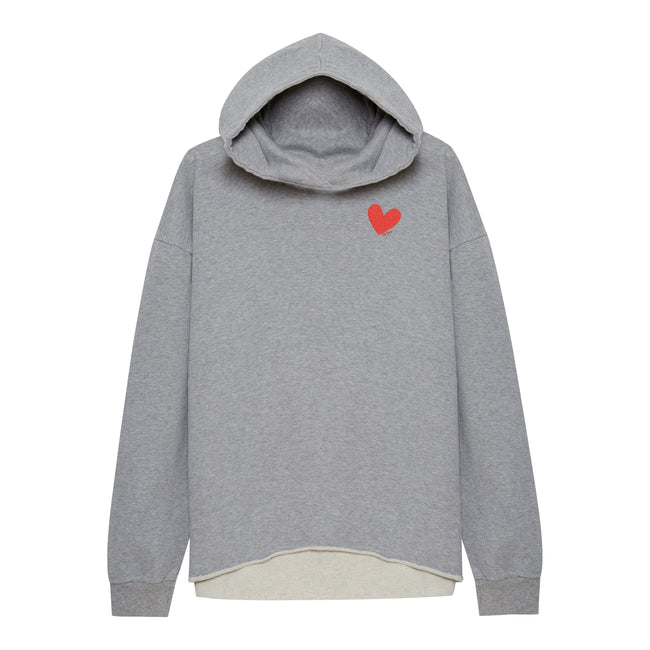 Small Heart Hoodie Grey - Oh Yeah! GmbH