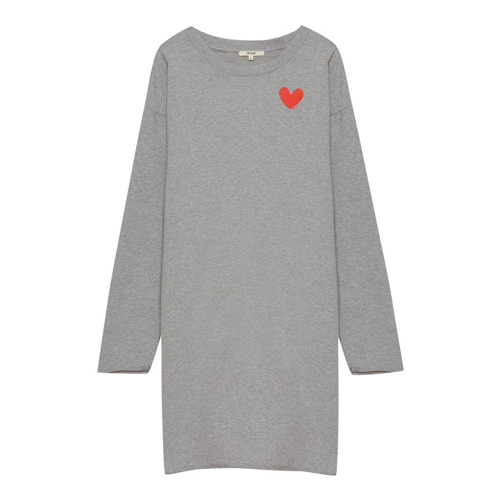 Small Heart Dress Grey - Oh Yeah! GmbH