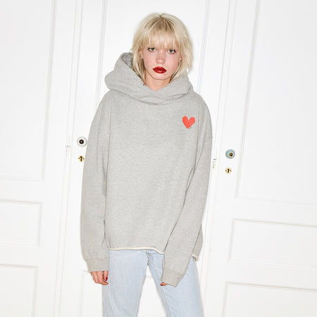 Small Heart Sweater Grey