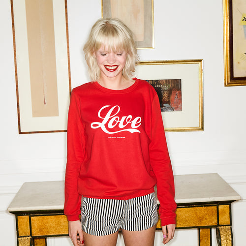 Pop Love Sweater Red - Oh Yeah! GmbH