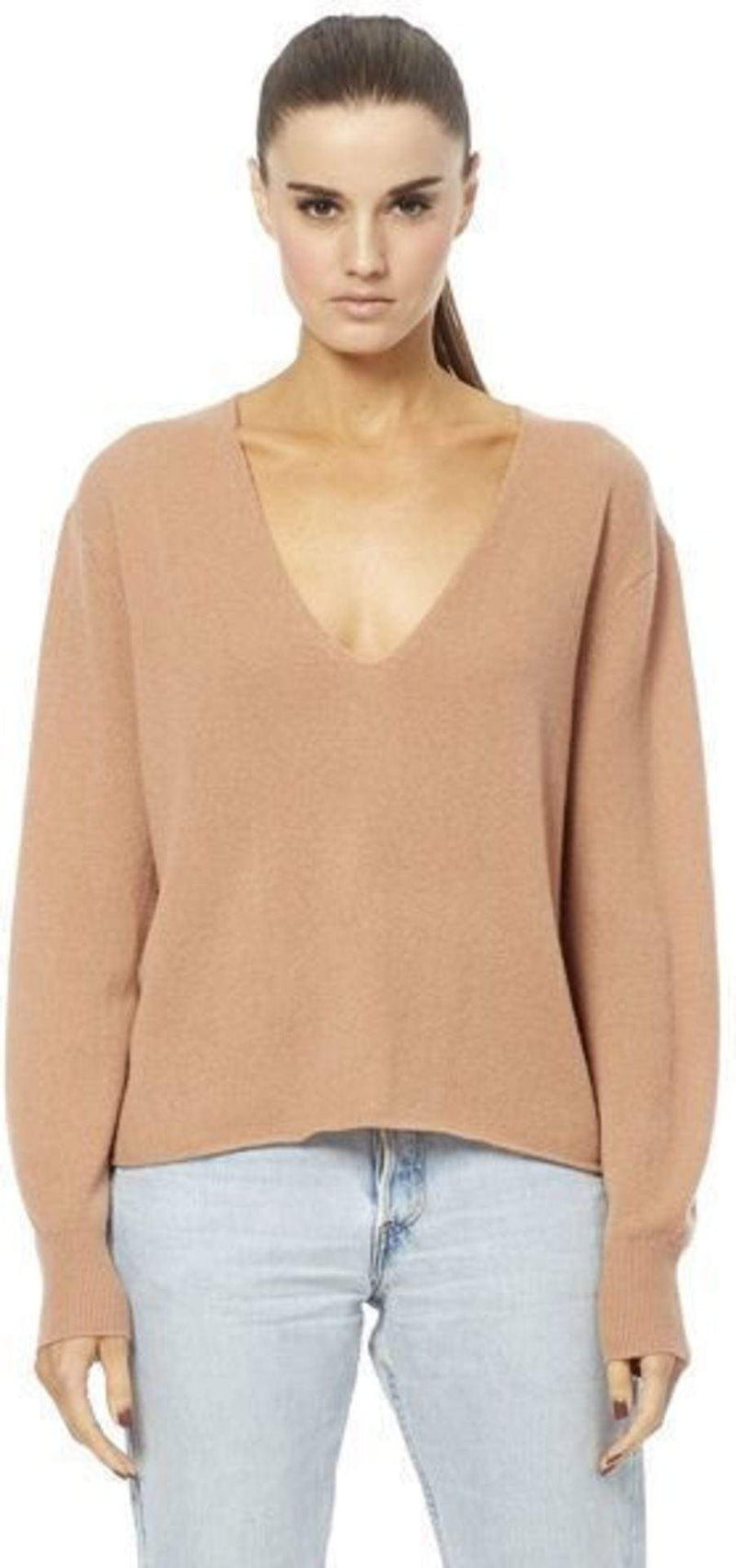 360 Cashmere/Skull Cashmere Sweater Small / Nutmeg / 37122Nutmeg Maddison V-Neck Sweater Nutmeg