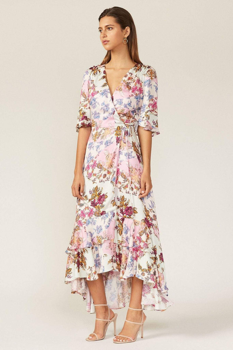 Adelyn Rae Dress Abbie Wrap Dress Pink Mist