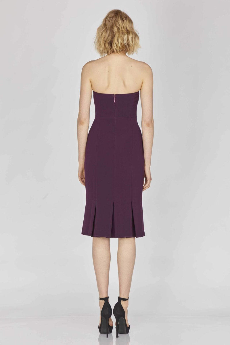 Adelyn Rae Dress Medium / Eggplant / F89D3648 Alexis Woven Strapless Dress Eggplant