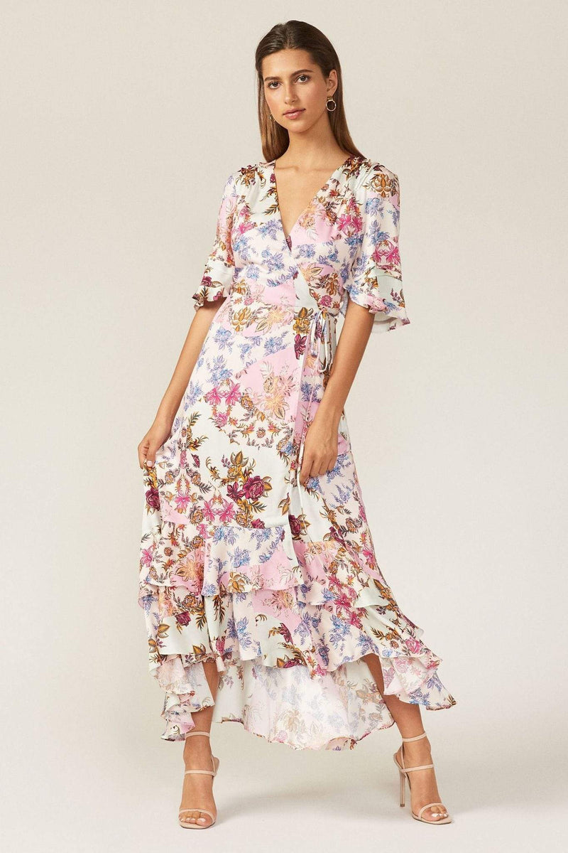 Abbie Wrap Dress Pink Mist