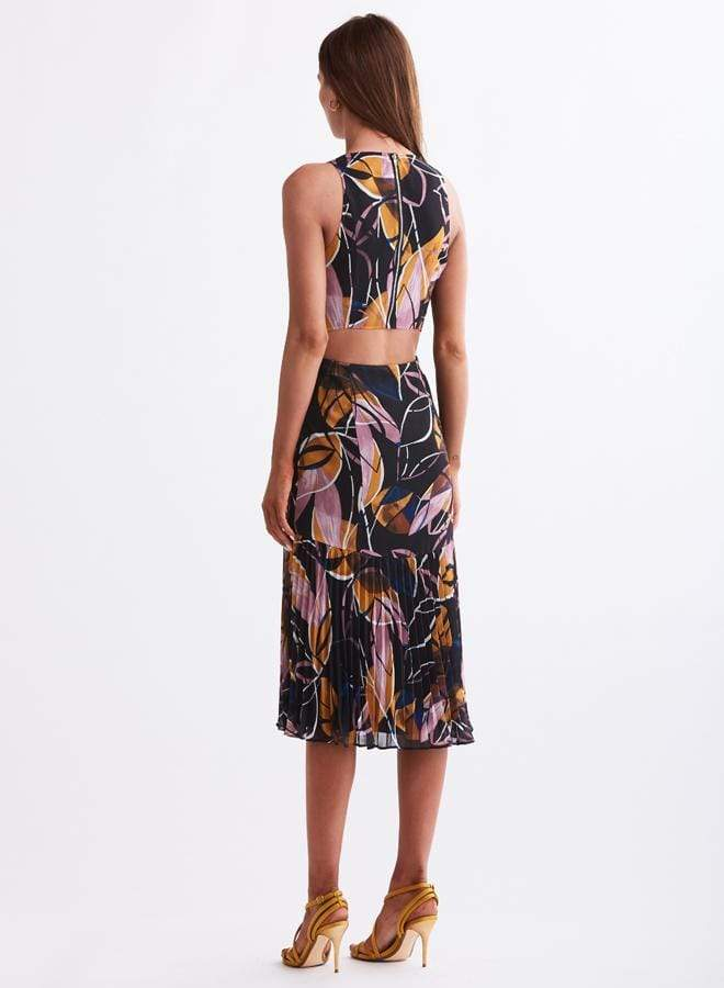 Hirst Floral Midi Dress Black Multi