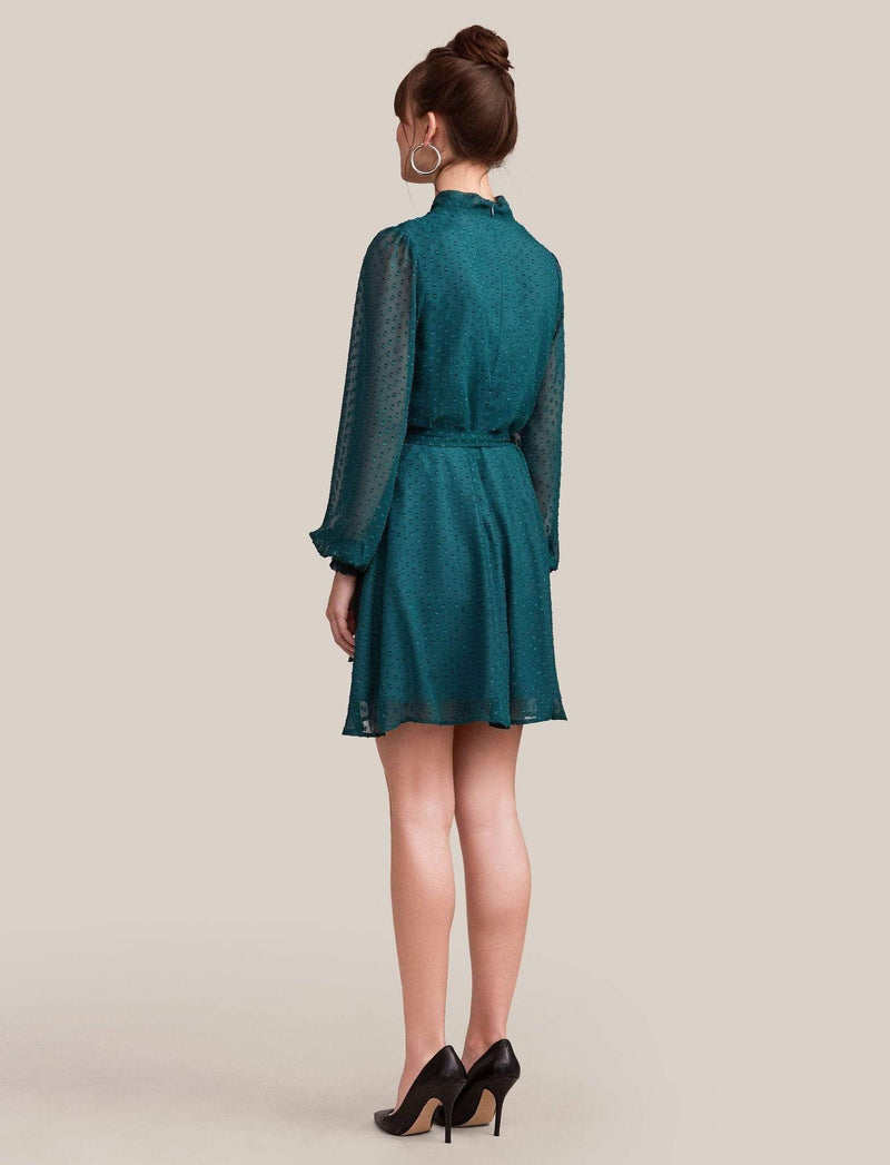 Ali & Jay Dress Large / Peacock Dot / 709-0601 Room with a View Mini Dress Peacock Dot