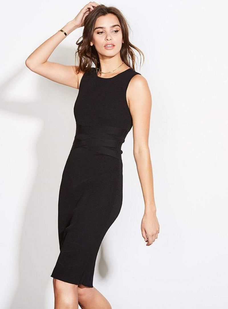 Surrender Sheath Dress Black