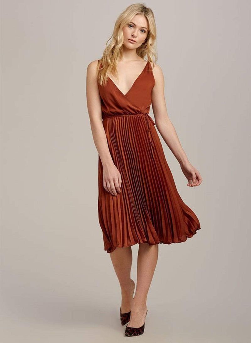Ali & Jay Dress X Small / Copper / 707-0521 Pure Gold Midi Dress Copper