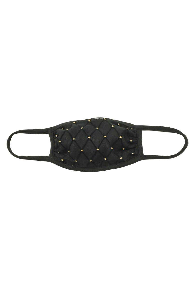 Almost Famous Accessories Accessories One Size / Black / MASKUPM18-BLACK Black Diamond Face Mask