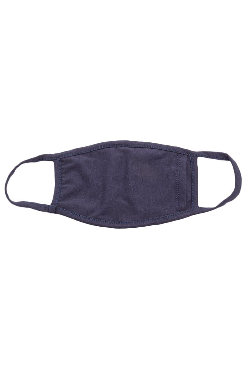 Almost Famous Accessories Accessories One Size / Navy / MASKDAN8002NV-NAVY Navy Layered Face Mask