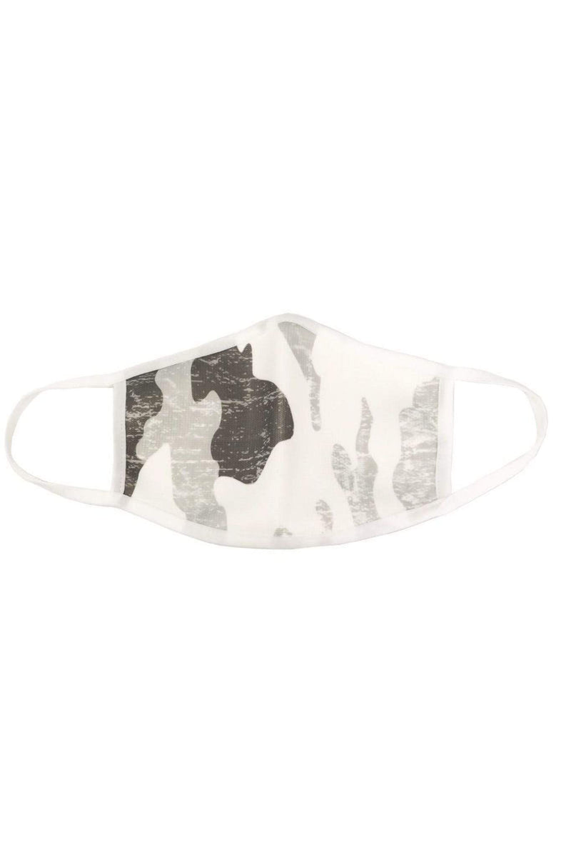 Almost Famous Accessories Accessories One Size / White Multi / MASKDANLCAMO-CAMO Camo Face Mask White Multi
