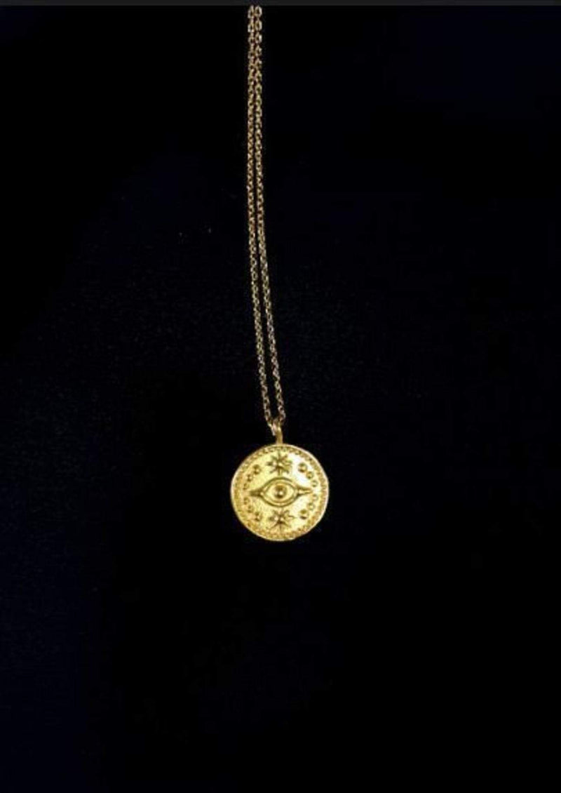 Faith Coin Charm Necklace