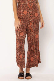 Amuse Bottoms Large / Coconut / A307OPAR Paradise Woven Pant - Coconut