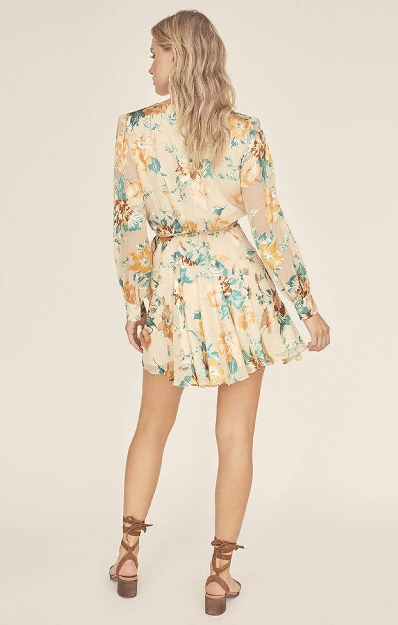 Aja Floral Mini Dress Cream